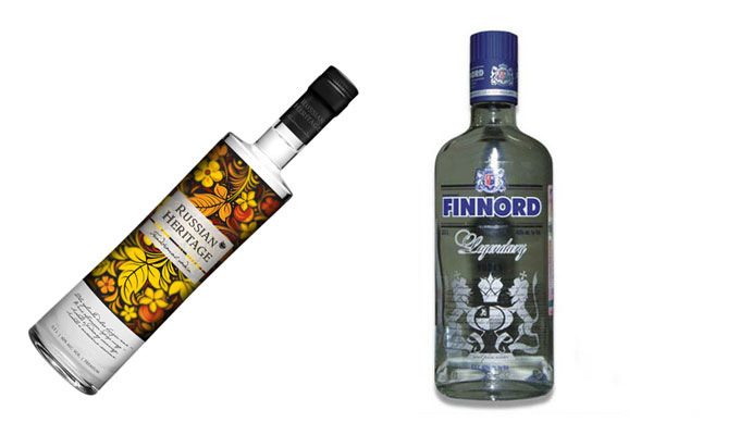 Russian Heritage and Finnord vodkas