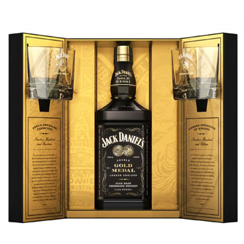 Jack Daniels Gold Medal London gift box