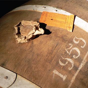 Cognac barrel dated 1959