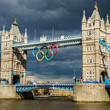 London Olympic Rings Tower Bridge