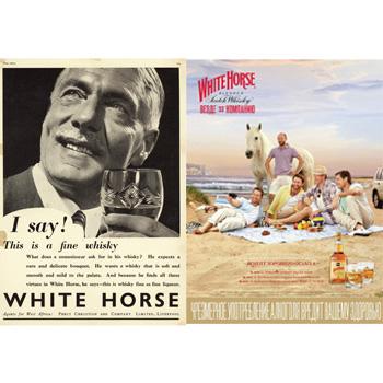 White Horse Scotch advertisements