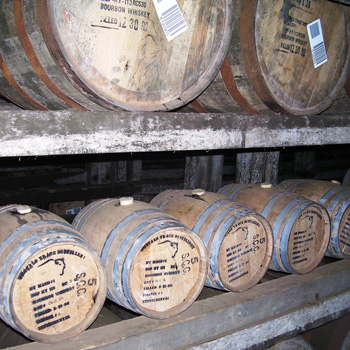 Buffalo Trace Distillery's small whisky barrels