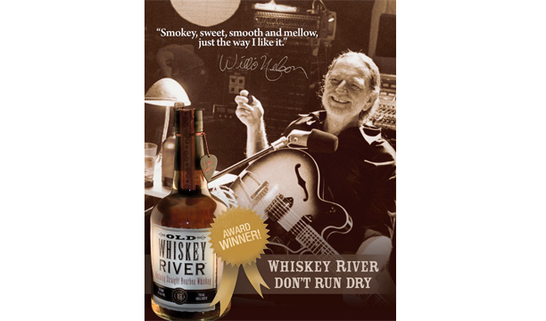 Wille Nelson Old Whiskey River Bourbon