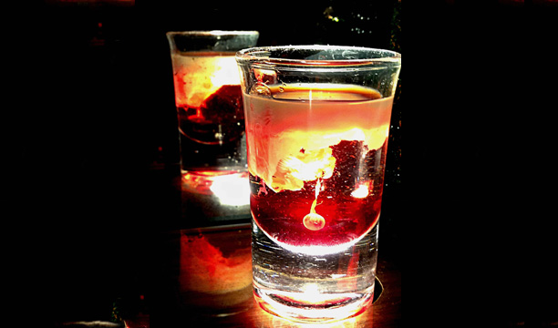 Antico Brain Hemorrhage Halloween cocktail