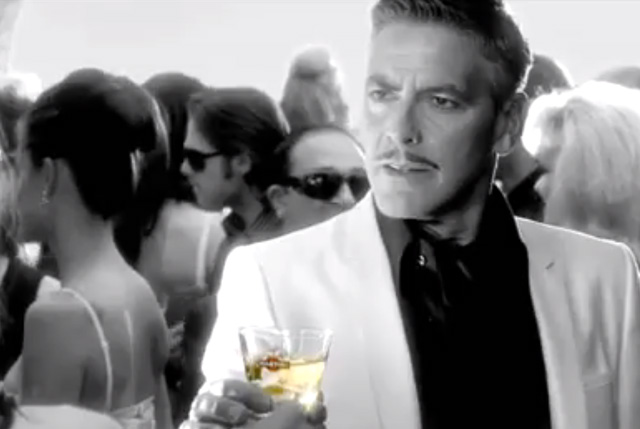 George Clooney stars in a Martini advert