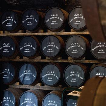 Irish whiskey barrels Jameson