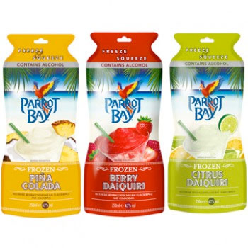 Parrot Bay frozen cocktails
