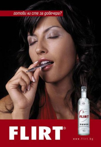Flirt Vodka Advert Pen