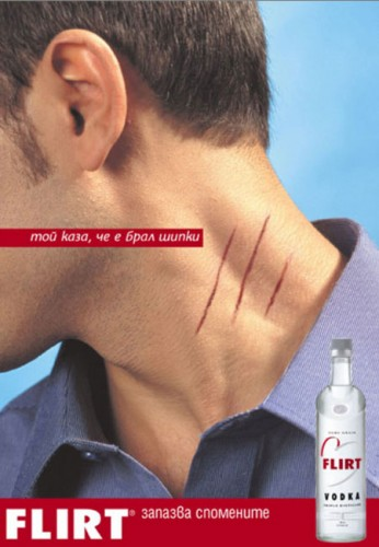 Flirt Vodka Advtisement Scratch