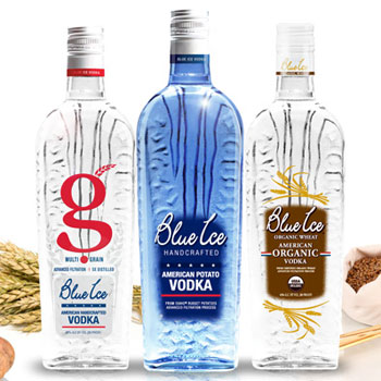 Blue Ice Vodkas