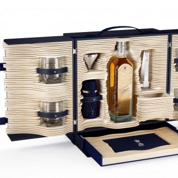 Johnnie Walker Blue Label Limited Edition Travellers Trunk designed by Alfred Dunhill