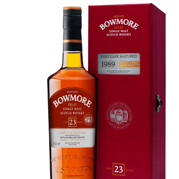 Limited edition Bowmore 23 Year Old