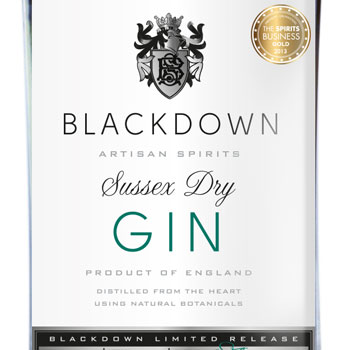 The Blackdown London Dry Gin that was awarded Gold in The Spirits Business Gin Masters