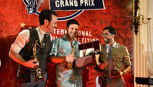 Havana-Club-International-Cocktail-Grand-Prix-finalists-Chris-Hysted,-Julien-Escot-and-Ryan-Chetiyawardana