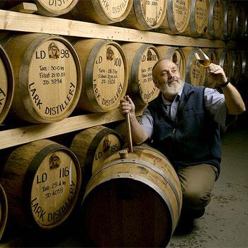 Bill Lark, founder of Lark Distillery in Tasmania
