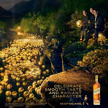 Diageo has launched a new global advertising campaign focusing on four expressions of Johnnie Walker Scotch whisky.