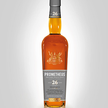 Prometheus 26 Year Old is the first Scotch whisky released by the Glasgow Distillery Company