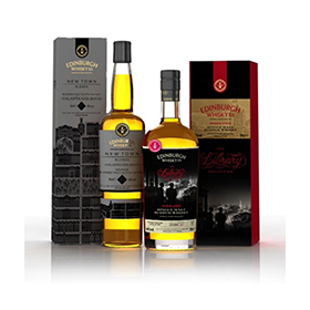 Blenders and bottlers Edinburgh Whisky offer two collections: New Town Blends and The Library Collection
