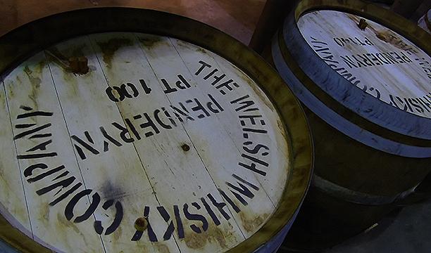 9 Penderyn casks