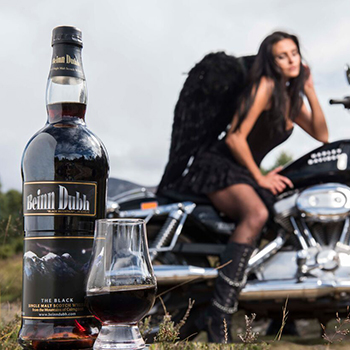 """Beinn Dubh is said to have a """"black"""" colour resulting from its maturation process in toasted port casks"""
