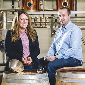 Rademon Estate Distillery founders Fiona and David Boyd-Armstrong.