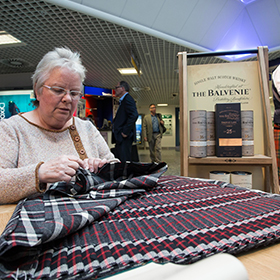 The Balvenie celebrated craft with a kilt-making partnership at Aberdeen airport.