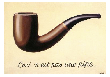 The Treachery of Images by Margritte