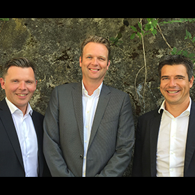 """(L-R) Generation's Fredrik Lindh has partnered with m1nd-set's Peter Mohn and David Perroud for travel retail """"mega data"""" provision."""
