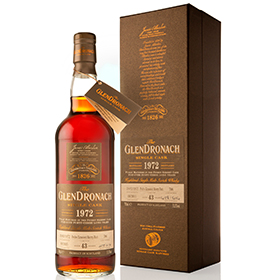 GlenDronach distillery has released the twelfth batch of its single cask releases - including this 43 year old whisky.