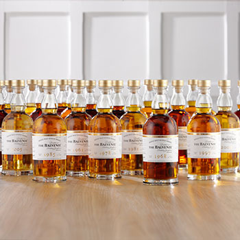 William Grant & Sons is celebrating the 53-year service of The Balvenie malt master David Stewart with the launch of 25 rare single cask Scotch whiskies – called The Balvenie DCS Compendium.