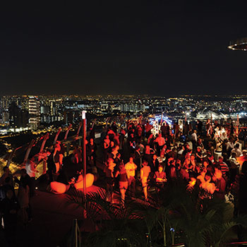 The Chill Out Party has been held atop the Marina Bay Sands hotel