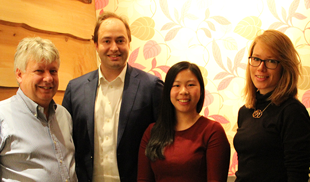 Left to right: Mike Axford, Christian Huynen, Wendy Tsui and Kristiane Sherry