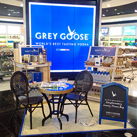 Bacardi GTR's Grey Goose activation in Dubai sought to bring a taste of France to the airport