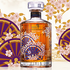 Hibiki Japanese Harmony Masters Select limited edition is one of the whiskies in the Explore the Whiskies of the World activation