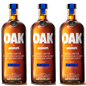 Pernod Ricard Travel Retail has released Oak by Absolut, a barrel-rested vodka, into the channel