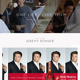Rémy Martin has unveiled a new website under the One Life/Live Them philosophy