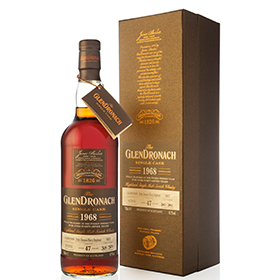GlenDronach has released its oldest ever liquid, a 1968 single cask expression