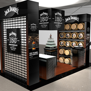 Travel retailer DFS Group will host a year of activity in celebration of the 150th anniversary of the Jack Daniel's Distillery