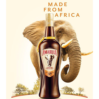 Amarula's new bottle design features glass etchings inspired by the African elephant