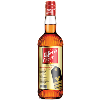 ABD's Officer's Choice Brandy has entered the million case-selling brandy category for the first time