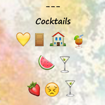 Emoji only menu WEB