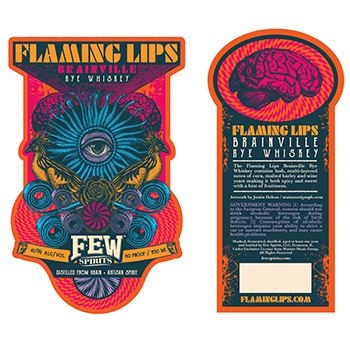 The Flaming Lips will become the latest brand to release a spirit when Brainville Rye Whiskey goes live in October