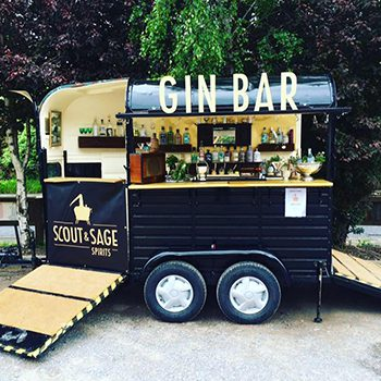 woman converts horse cart into gin bar. Black Bedroom Furniture Sets. Home Design Ideas
