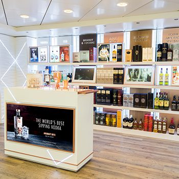 Pernod Ricard has opened an interactive store on board the Cunard Queen Mary II cruise liner