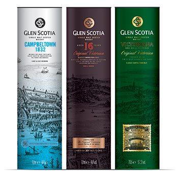The Glen Scotia global travel retail range