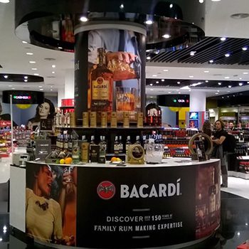 Bacardi GTR is on a rum communication drive at Malaga Airport
