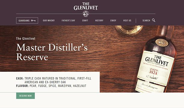 glenlivet-website