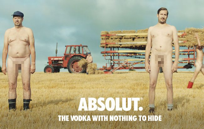 Absolut's The Vodka With Nothing To Hide film features 28 employees in the nude