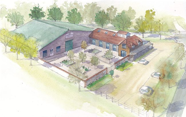 An artist's impression of the Springhead Distillery in Dorset