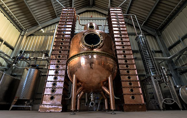 The Oxford Artisan Distillery distills spirits using ancient heritage grains